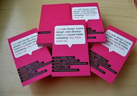 pink,stylish business card