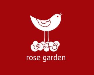 bird,garden,rose,sparrow logo