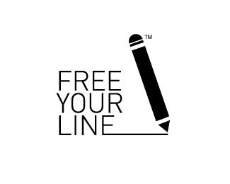 pencil,thin logo