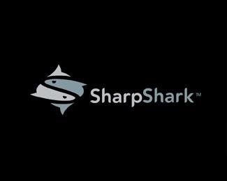animal,fish,shark logo