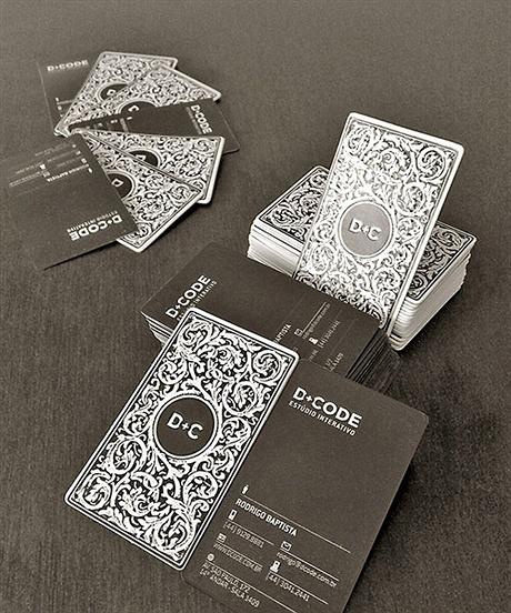 laminated,letterpress,stylish business card