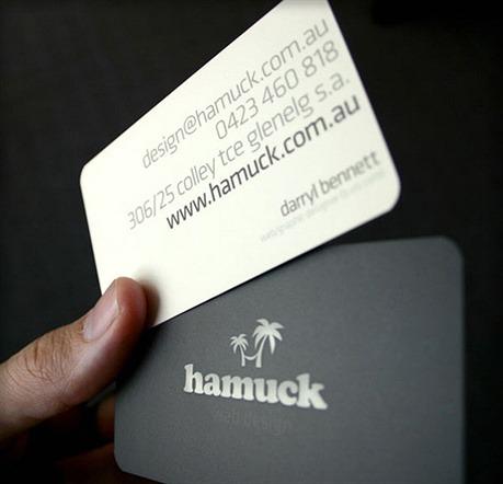 Hamuck - Web Design Company business card