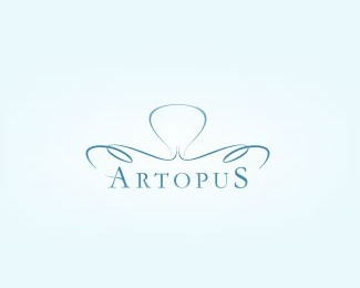 art,simple,lines,curves logo