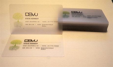 transparent,plastic,round corner business card