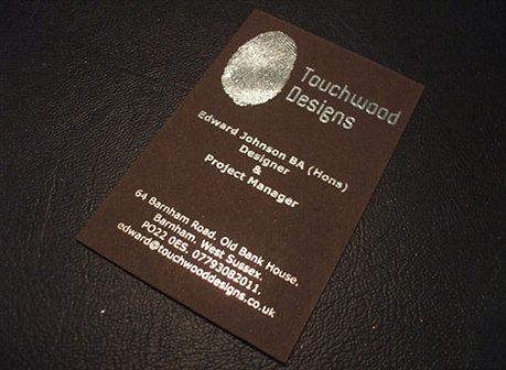 Foil Printed Card business card