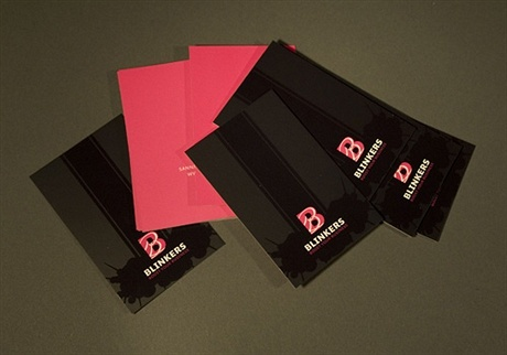 black,fluorescent,contrast color,spot uv business card