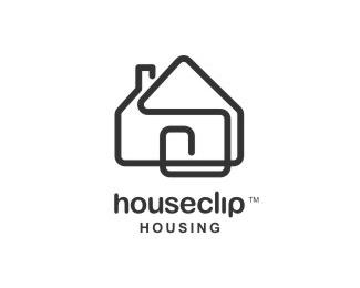 building,house,clip,lines logo