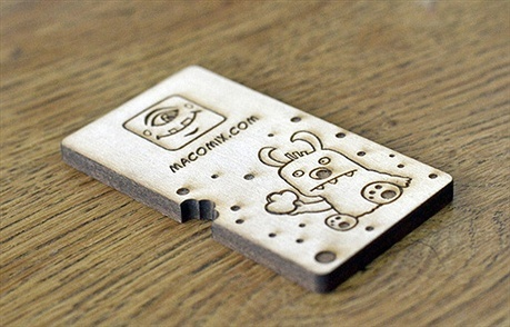 creative,illustration,wooden,etched business card