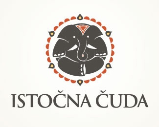 animal,elephant,round logo