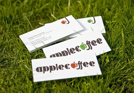 Apple Coffee business card