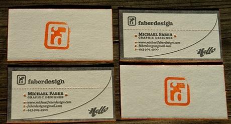 letterpress,rubber stamp business card