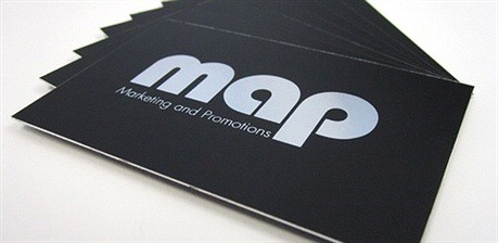 Silver Foil Based One Color Card business card