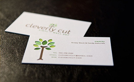 die cut,stylish business card