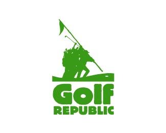 flag,republic,golf logo