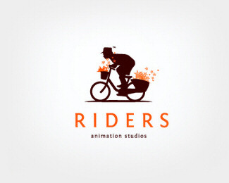 cycle,animation,riders logo