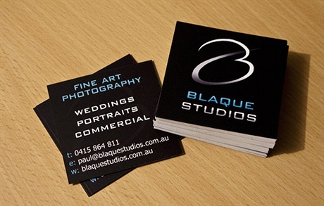 square,contrast color business card