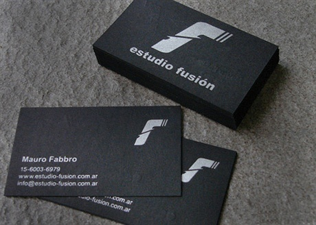 contrast color business card