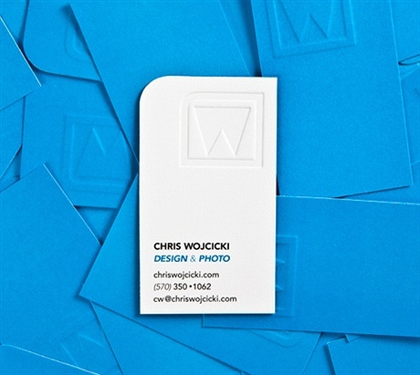2 color,die cut,embossed business card