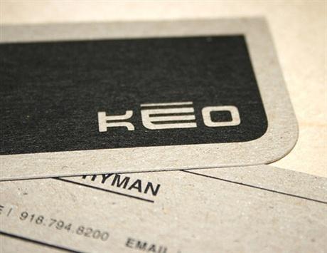 KEO  Asian Restaurant business card