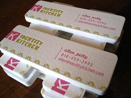 letterpress,round corner business card