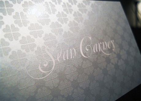 metallic color,spot uv business card