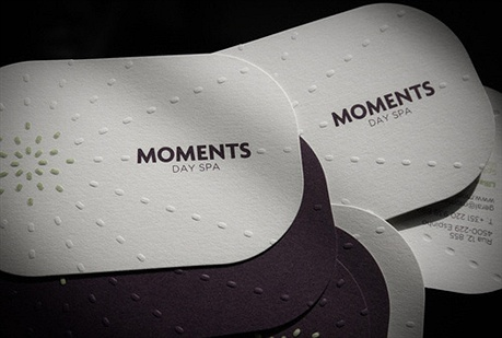 Moments Day Spa business card
