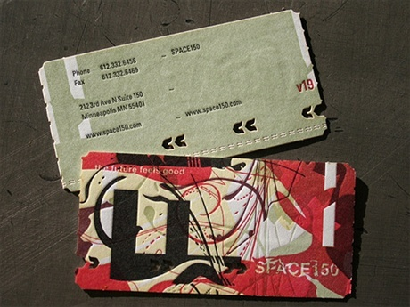 creative,letterpress,multi color,stylish business card