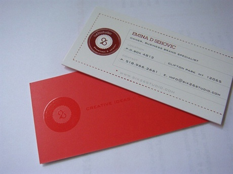 matte,laminated business card