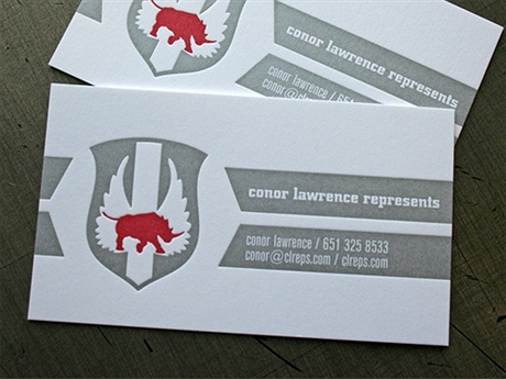 2 color,metallic color business card