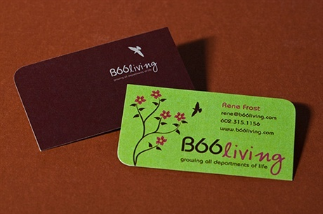 round corner,stylish business card