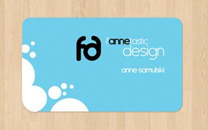fancy,2 color,round corner business card