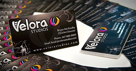 multi color,round corner,spot uv business card