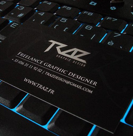 Traz Graphic Design business card
