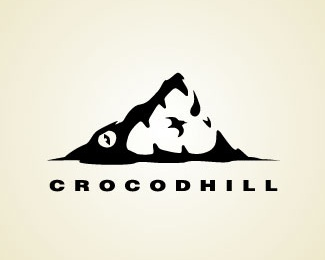 animal,hill,crocodile logo