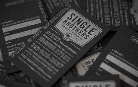 earthy surface,laminated,letterpress business card