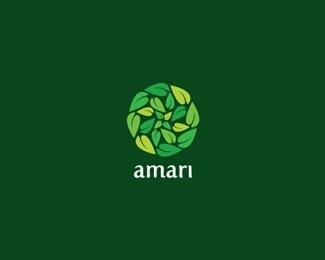 leaf,round logo