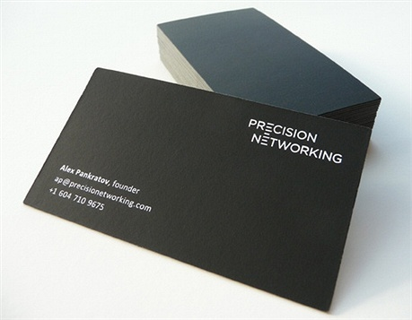 black,simple,minimalistic,laminated,one color business card