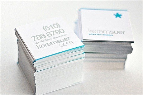 Simplistic Square Design business card