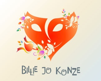 face,flower,heart,mask,fractal logo