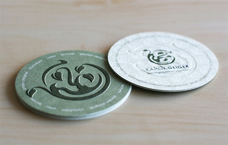 Circle Business Card business card