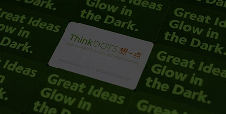 round,glow,plastic,thick paper business card