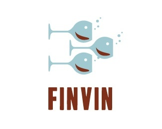 animal,fish,glass,bubbles logo