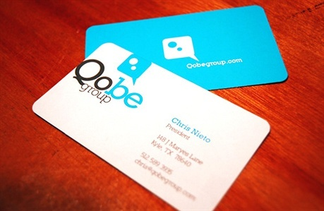 die cut,multi color,round corner business card