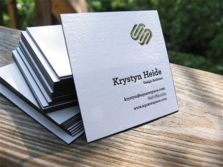 Square Space business card