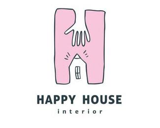 design,hand,house,interior logo