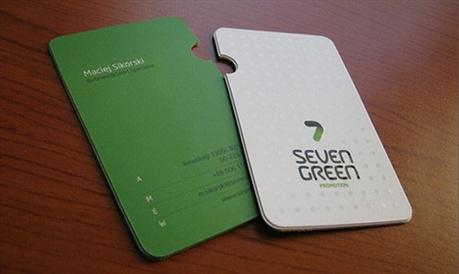 Seven Green business card