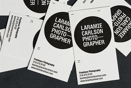 Laramie Carlson Photo-Grapher business card