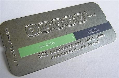 creative,metal,sticker business card