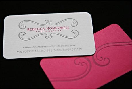 duplexed,letterpress,round corner,stylish business card