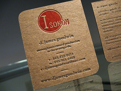 Isokno - D. James Goodwin business card